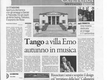 Il Gazzettino – Resurrect our 5 senses